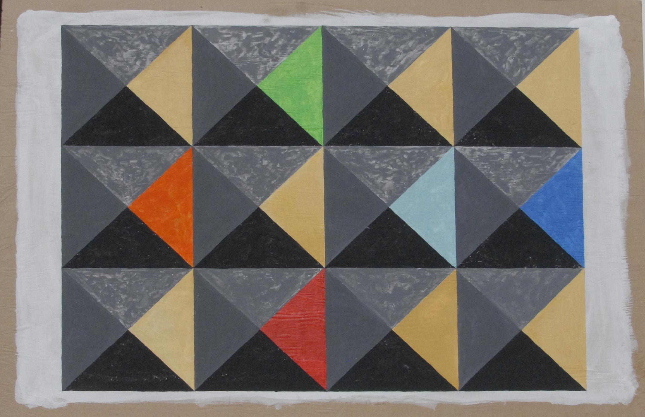 scansione piramidale 2, 2019, cm 100xH70
