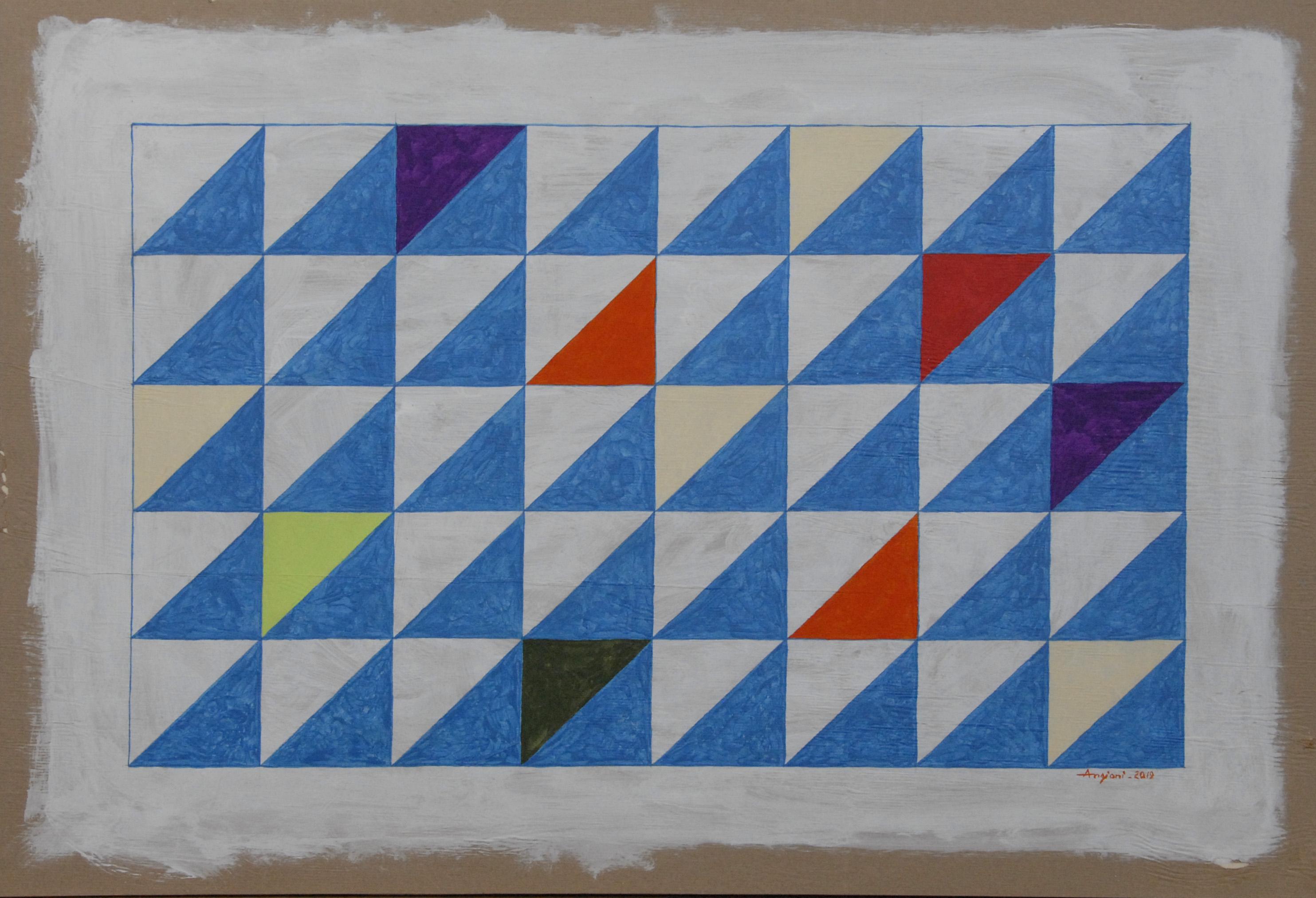 scansione geometrica, 2019, cm100xH70