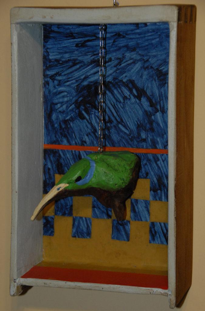il colibrì incatenato, 2020, cm 20xH32x8,5