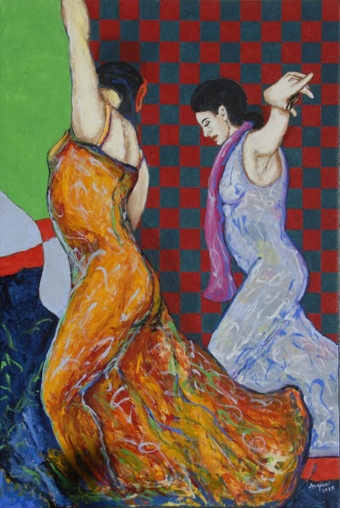 flamenco #9, 2020, cm70xH100